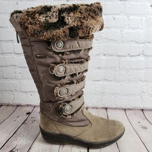 Pajar Faux Fur Zip Up Boots Womens 8.5 Shoes